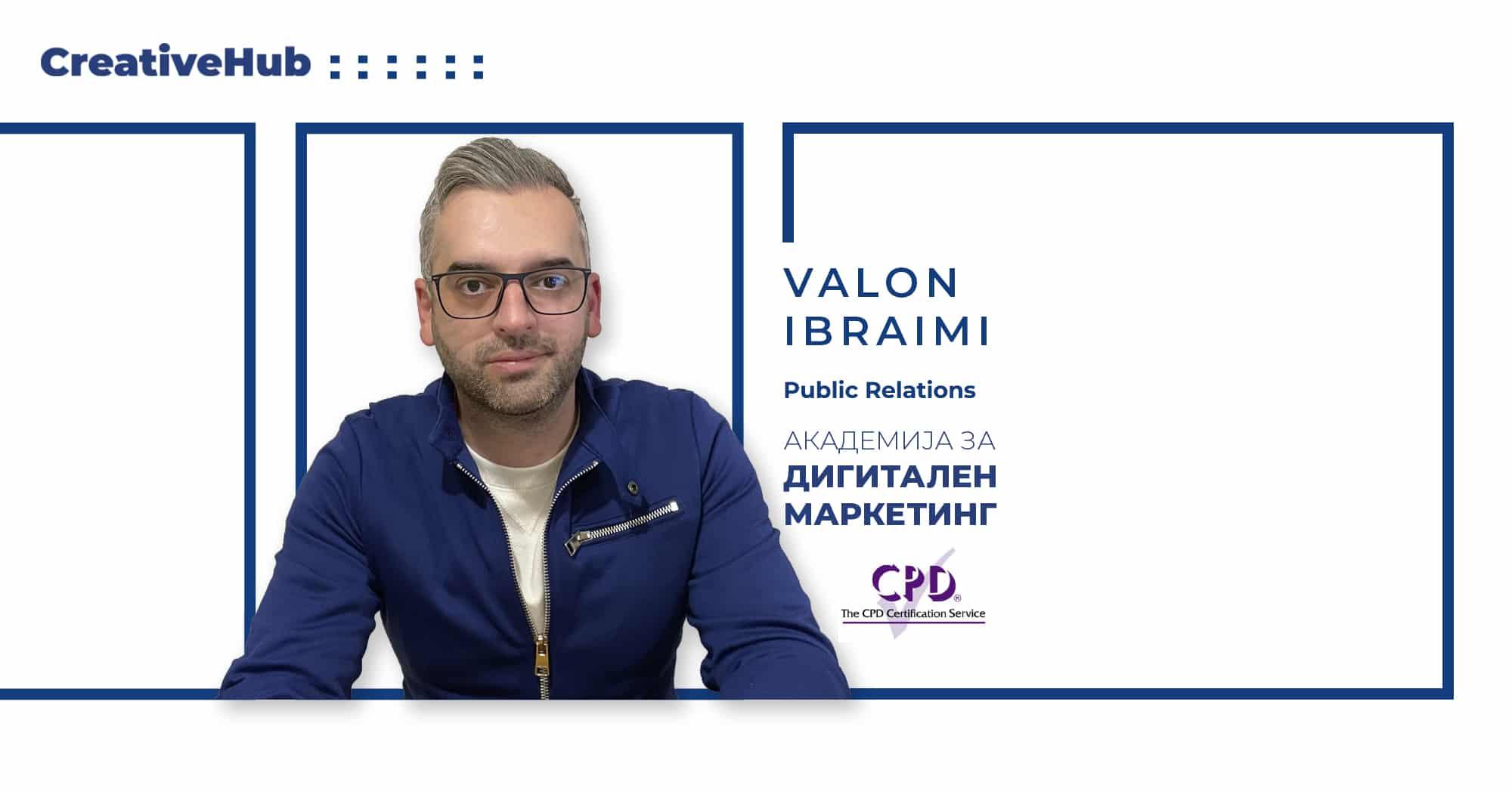 Валон Ибраими - предавач на Академијата за Дигитален маркетинг
