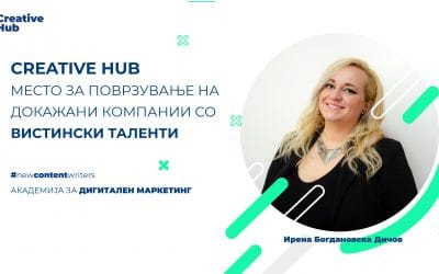 Creative Hub поврзува докажани компании со вистински таленти