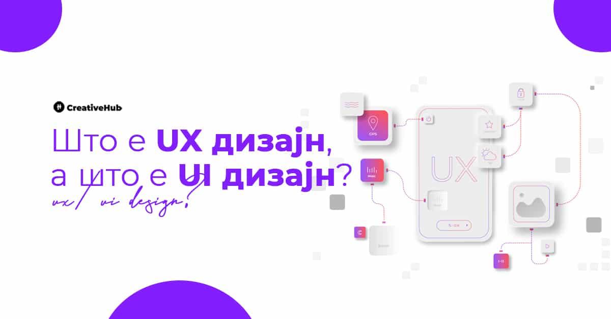 Што е UX, a што е UI дизајн?
